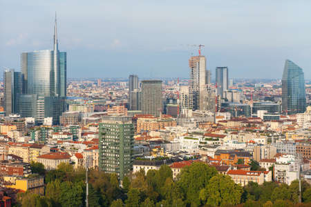 View on Milan in the early evening   Stock Photo - 16379436