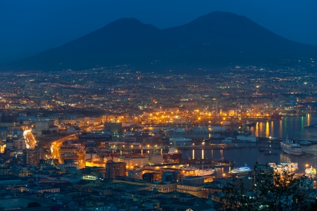 napoli: Naples, Italy - September 28, 2012: The Port of Naples is one of the largest Italian seaports in the Mediterranean Sea basin. Its annual traffic capacity is around 25 million tons of cargo. GPS information is in the file.