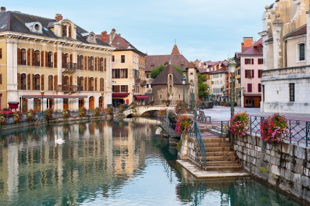Morning view of Annecy
