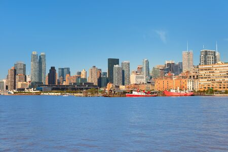 New York from Hudson river in a sunny day photo