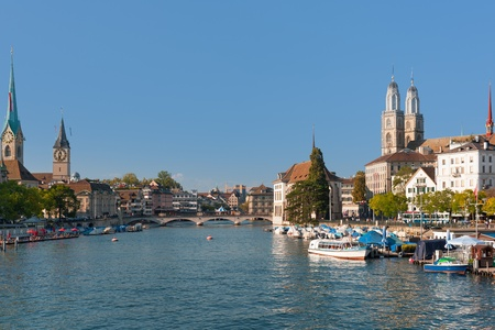 Zurich in a sunny day of september photo