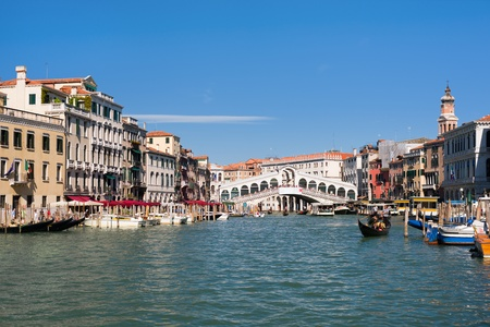 View on the Rialto Bridge in Venice photo