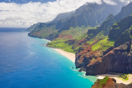 View on Na Pali Cost on Kauai island on Hawaii