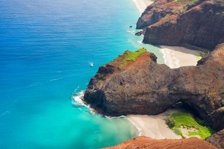 na: Scenic view of Kauai island coast on Hawaii
