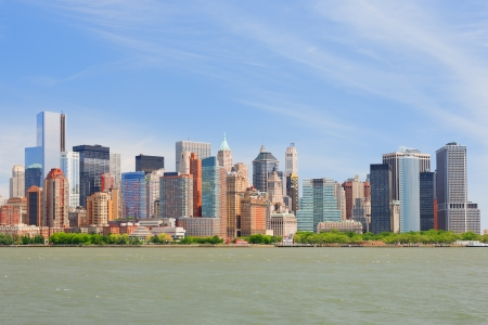 Cityscape of New York from Hudson river