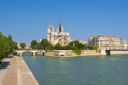 Notre Dame de Paris in a sunny day photo