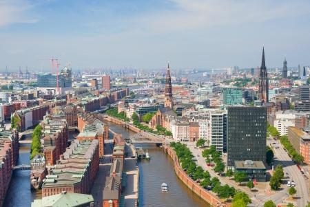 hamburg: Aerial view of Hamburg and Hamburg port