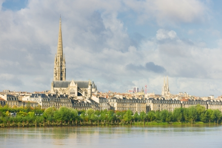 View of Bordeaux at a summer day
