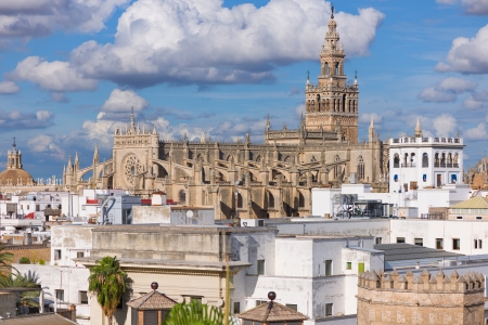 The Cathedral of Saint Mary of the See in the historic district of Seville photo