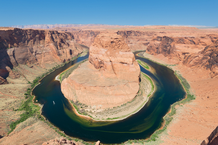Horseshoe Bend near the town of Page in the United States photo