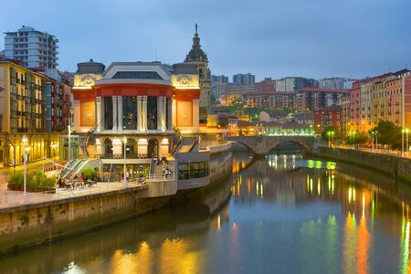 View of Bilbao in a summer night