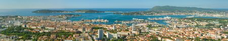 toulon: Panorama of Toulon in a summer day Stock Photo