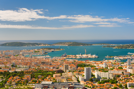 toulon: Cityscape of Toulon in a summer morning Stock Photo