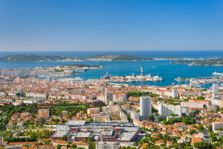 toulon: Cityscape of Toulon in a summer day Stock Photo