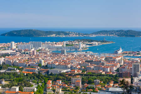 toulon: Cityscape of Toulon in a spring morning