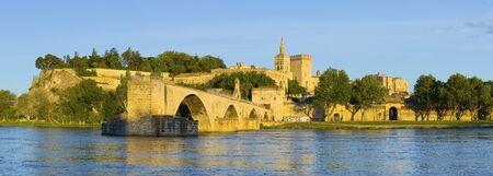 avignon: Panorama of Avignon in a summer evening