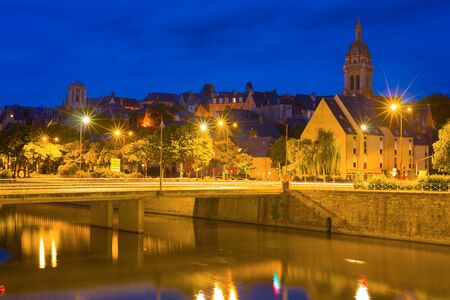 mans: Cityscape of Le Mans in a summer night