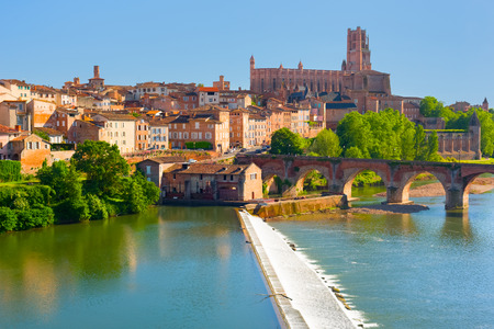 View of Albi in a summer evening