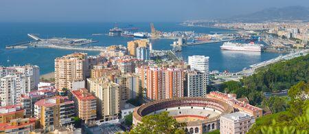 malaga: Panorama of Malaga in a summer day