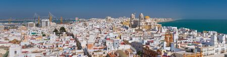 Panorama of Cadiz in a sunny summer day