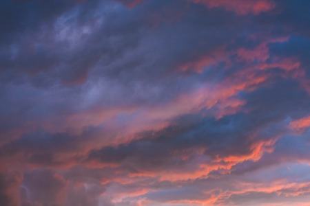 Natural dramatic sky with stormy clouds photo