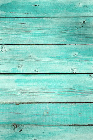 Turquoise wood planks vintage or grunge background texture