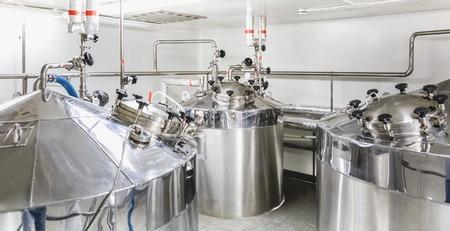Boiler of tank op de farmaceutische industrie of chemische fabriek Stockfoto - 35616960