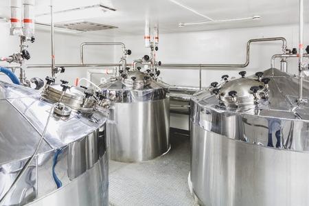 chemical plant: Boiler of tank op de farmaceutische industrie of chemische fabriek Stockfoto