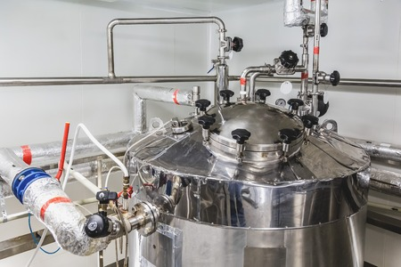 sterility: Water boiler or tank on pharmaceutical industry or chemical plant