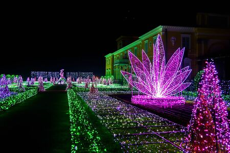 wilanow: Royal Garden of Lights at Wilanow Palace at Night