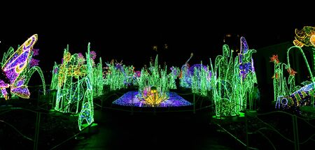 wilanow: View on Royal Garden of Light at Museum in Wilanow