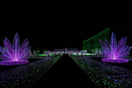wilanow: View on Labyrinth of Light at Wilanow Palace Stock Photo