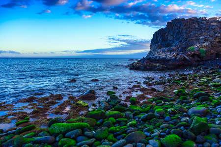 ocean waves: Stone Coast of Atlantic Ocean with Waves on Tenerife Island