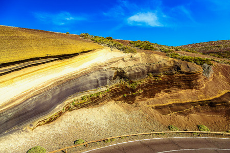 multi layered: Multi Layered Rock Nature Background on Tenerife Canary Island in Spain Stock Photo