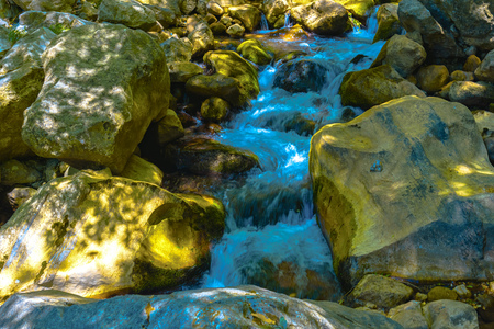 Closeup View on River in Mountain in Alanya, Turkey