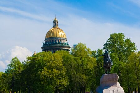st  petersburg: Saint Isaac cathedral in St Petersburg, Russia Stock Photo