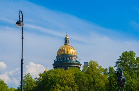 and st petersburg: Saint Isaac cathedral in St Petersburg, Russia Stock Photo