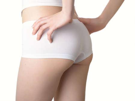 Perfect female body isolated on white Stock Photo - 4743216