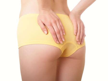 cuerpo femenino perfecto: Cuerpo femenino perfecto aislado en blanco