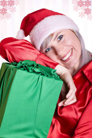 The woman in a suit of a Snow Maiden with gifts Stock Photo - 5911707