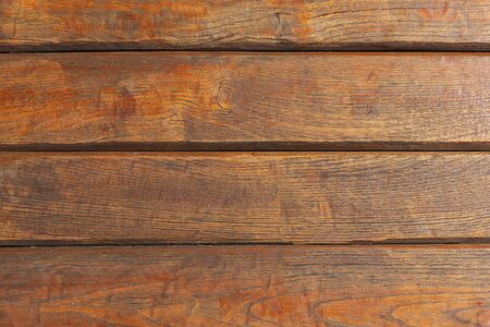 Background from brown wooden horizontal new boards. Wooden light brown boards, texture for design. Natural wood.
