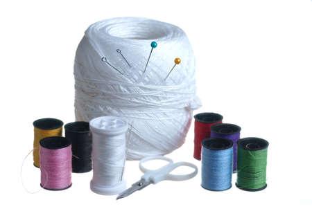 kit de costura: Kit de costura. Foto de archivo