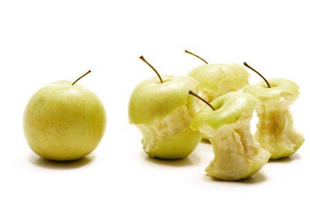 eaten: One vs four apple cores