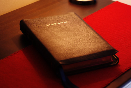 Bible on the table. Stock Photo