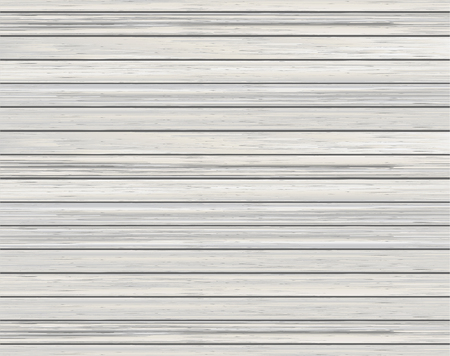 wooden boards: Realistic wood texture background of white wooden boards. Vector illustration. Illustration