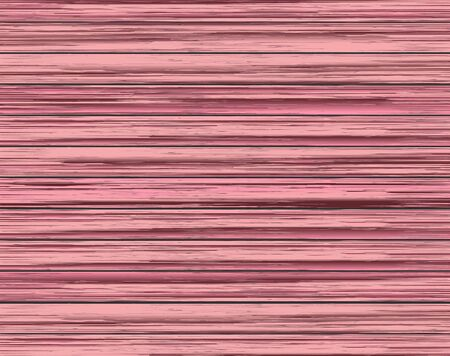 woodpile: Wood texture background of dyed pink wooden boards. Realistic vector illustration.