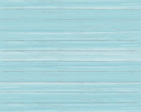 Wood texture background of dyed blue boards. Realistic vector illustration.