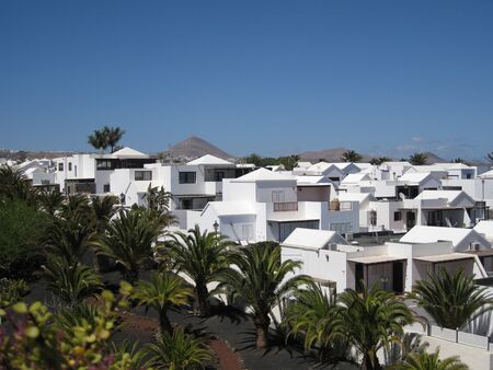Lanzarote. Beautiful morning on Canary Islands. Spain 스톡 콘텐츠