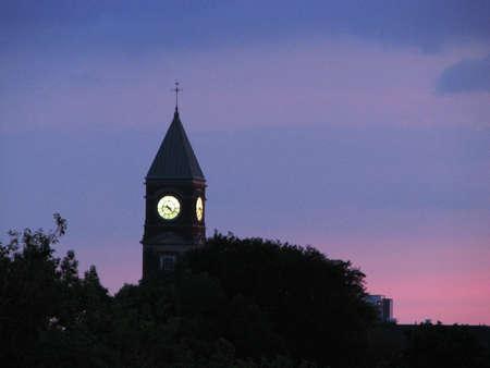 Clock tower at night (Toronto, Canada)