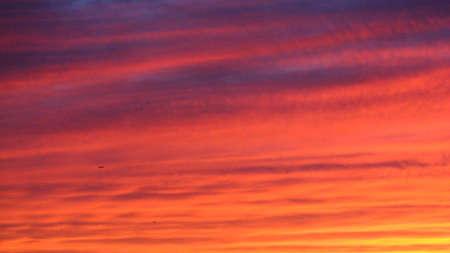 Sunset above Toronto photo